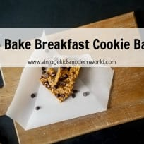 No Bake Breakfast Cookie Bars
