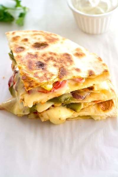 File 1 Veggie Fajita Quesadillas