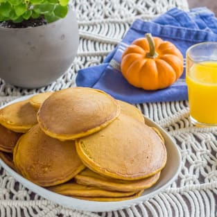 Pumpkin pancakes photo