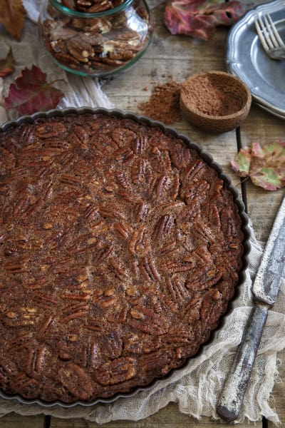 Paleo Chocolate Pecan Tart Picture