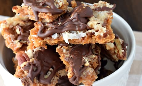 Chocolate Coconut Cracker Toffee Recipe