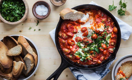 Baked Goat Cheese with Harissa Recipe