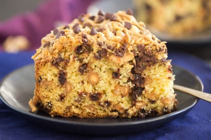 Chocolate Peanut Butter Coffee Cake