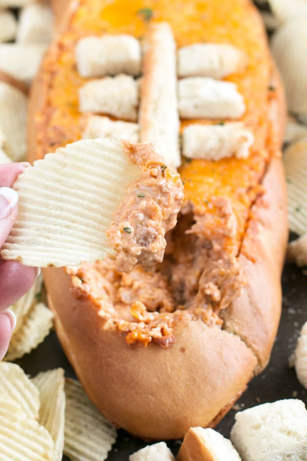 Cheesy Pulled Pork BBQ Bread Dip Image