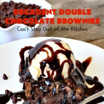 Decadent Double Chocolate Brownies