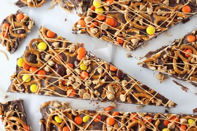 Chocolate Peanut Butter Pretzel Bark Photo