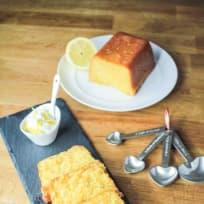Lemon Drizzle Polenta Loaf Cake (Gluten Free)
