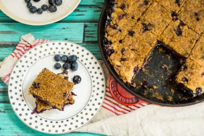 Blueberry Bourbon Buckle