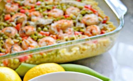 One Pan Lemon Artichoke & Shrimp Orzo Picture