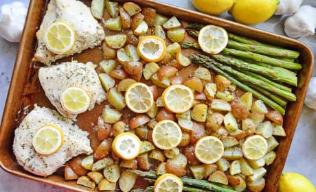 Lemon Chicken Asparagus Sheet Pan Dinner Recipe