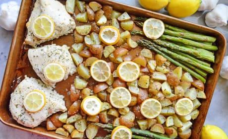 Lemon Chicken Asparagus Sheet Pan Dinner Photo