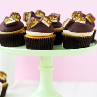 Pumpkin snickers cupcakes photo