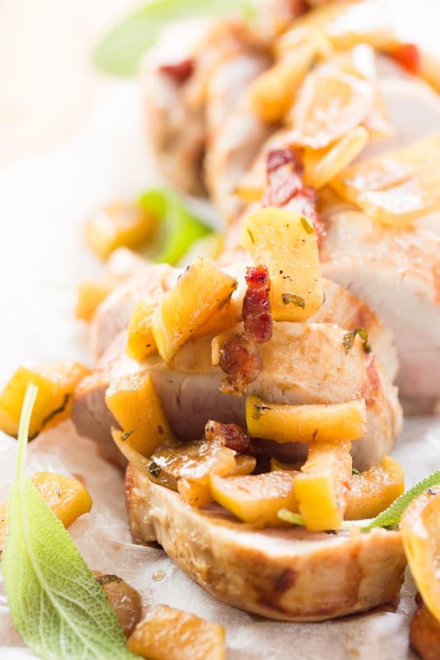 Pork Tenderloin with Apple Bacon Compote Pic