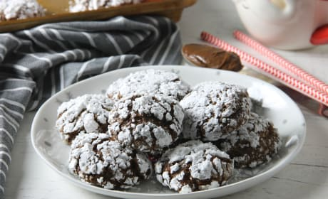 Chocolate Hazelnut Crinkle Cookies Recipe