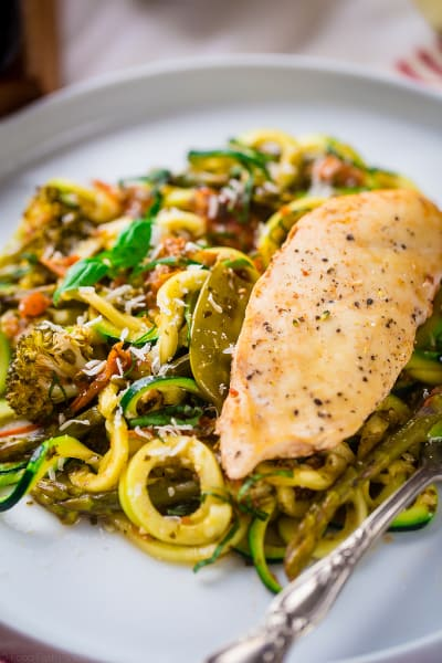 Slow Cooker Italian Chicken with Zucchini Noodles Picture