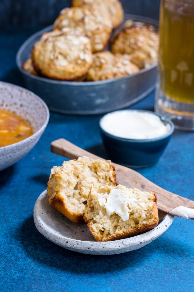 Honey Wheat Hard Cider Beer Bread Muffins Pic