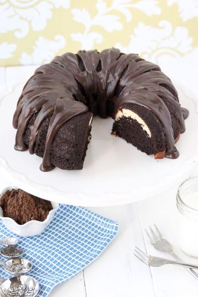 Ribboned Fudge Bundt Cake Pic