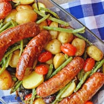 Sausage Potato & Green Bean Bake Recipe