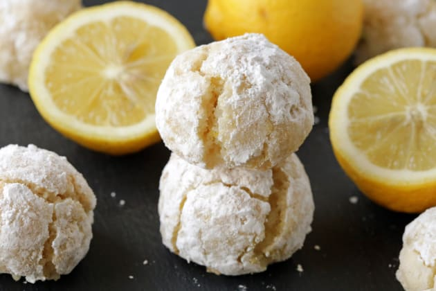 Gluten Free Lemon Crinkle Cookies Photo
