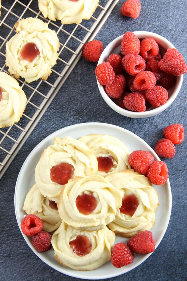 Raspberry Butter Cookies Image