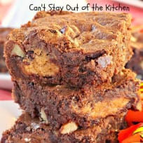 Reese's Peanut Butter Cup Surprise Brownies