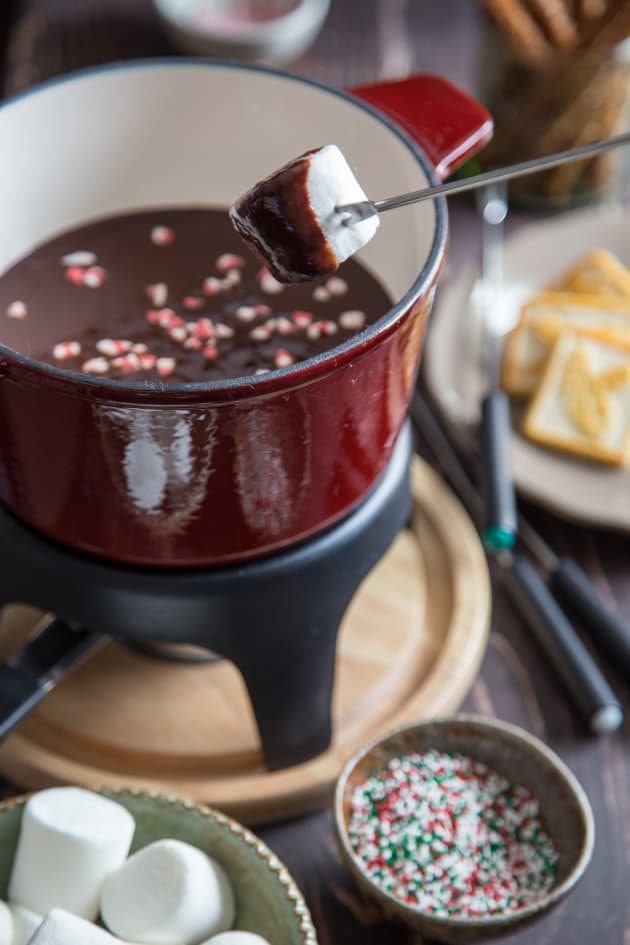 Chocolate Peppermint Fondue Picture