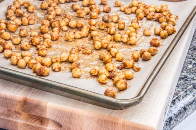 Chickpeas on Baking Sheet