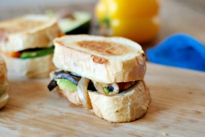Fajita Grilled Cheese: Spicy Sandwich