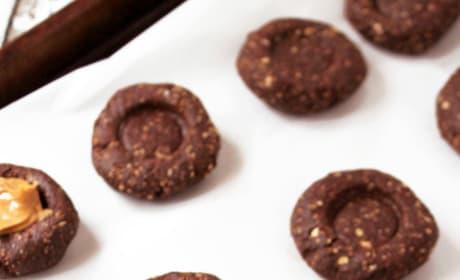 Gluten Free Chocolate Thumbprint Cookies Pic