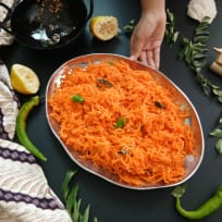 South Indian Style carrot salad