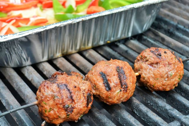 Easy Grilled Meatballs