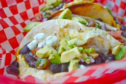 Huevos Rancheros Street Tacos