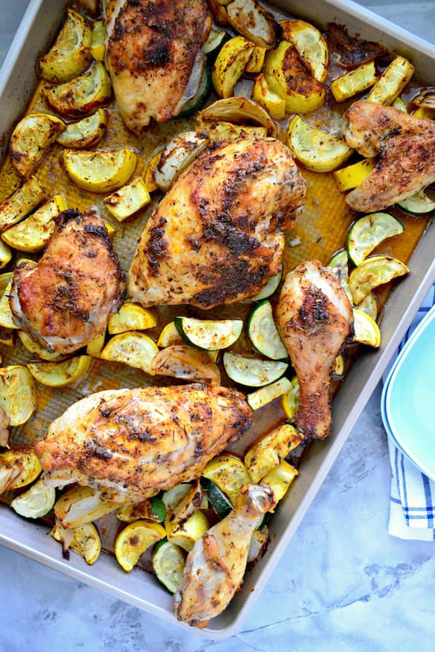 Sheet Pan Chicken and Squash Dinner Picture