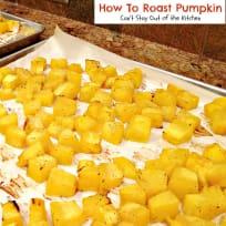 How To Roast Pumpkin
