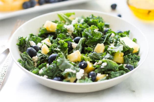 Kale Blueberry Pineapple Salad Photo