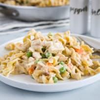 Chicken Pot Pie Noodles Recipe