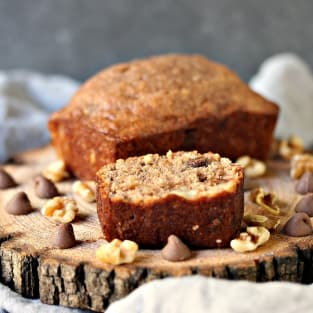 Peanut butter chocolate banana bread photo