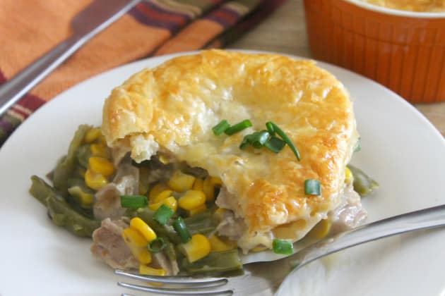 Leftover Turkey Puff Pastry Pot Pies Photo