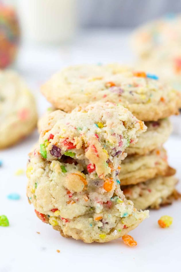 Fruity Pebble Marshmallow Cookies Image