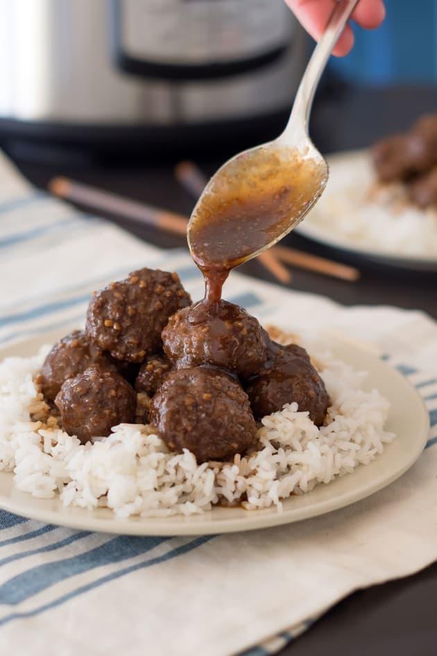 Instant Pot Gluten Free Teriyaki Meatballs Picture