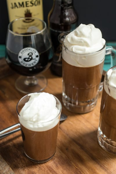 Chocolate Stout Mousse with Whiskey Cream Image