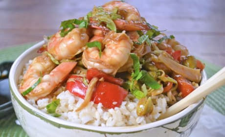 Asian Shrimp Rice Bowls Recipe