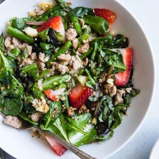 Strawberry balsamic paleo cauliflower rice ground turkey skillet