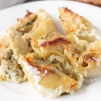Chicken Avocado Pesto Stuffed Shells Recipe