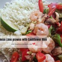 Chinese Lime Prawns with Cauliflower Rice