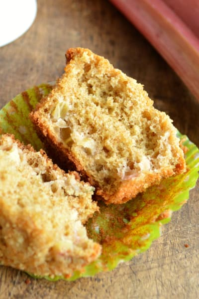 Ginger Rhubarb Muffins Picture