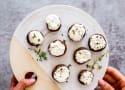 Garlic Herb Goat Cheese Stuffed Mushrooms