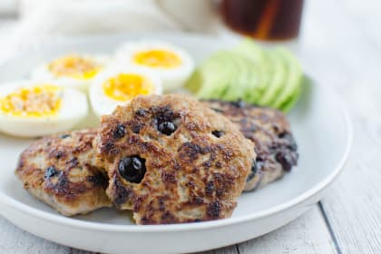 Paleo Maple Blueberry Turkey Breakfast Sausage