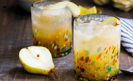 Vanilla Pear Gin Fizz Photo