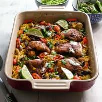 Mexican Chicken and Cauliflower Rice